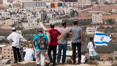 Photo of Settlers erect tents on citizens' lands east of Salfit
