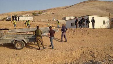 Photo of Israeli forces demolish house in Bedouin community