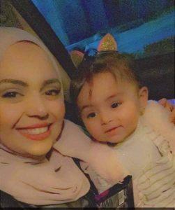 Anhar Al-Deek with her first born child Julia
